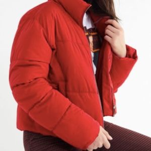 Urban Outfitters Hadley Puffer Jacket Red